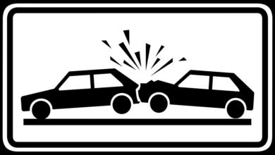 Dopravní nehoda - ilustrace